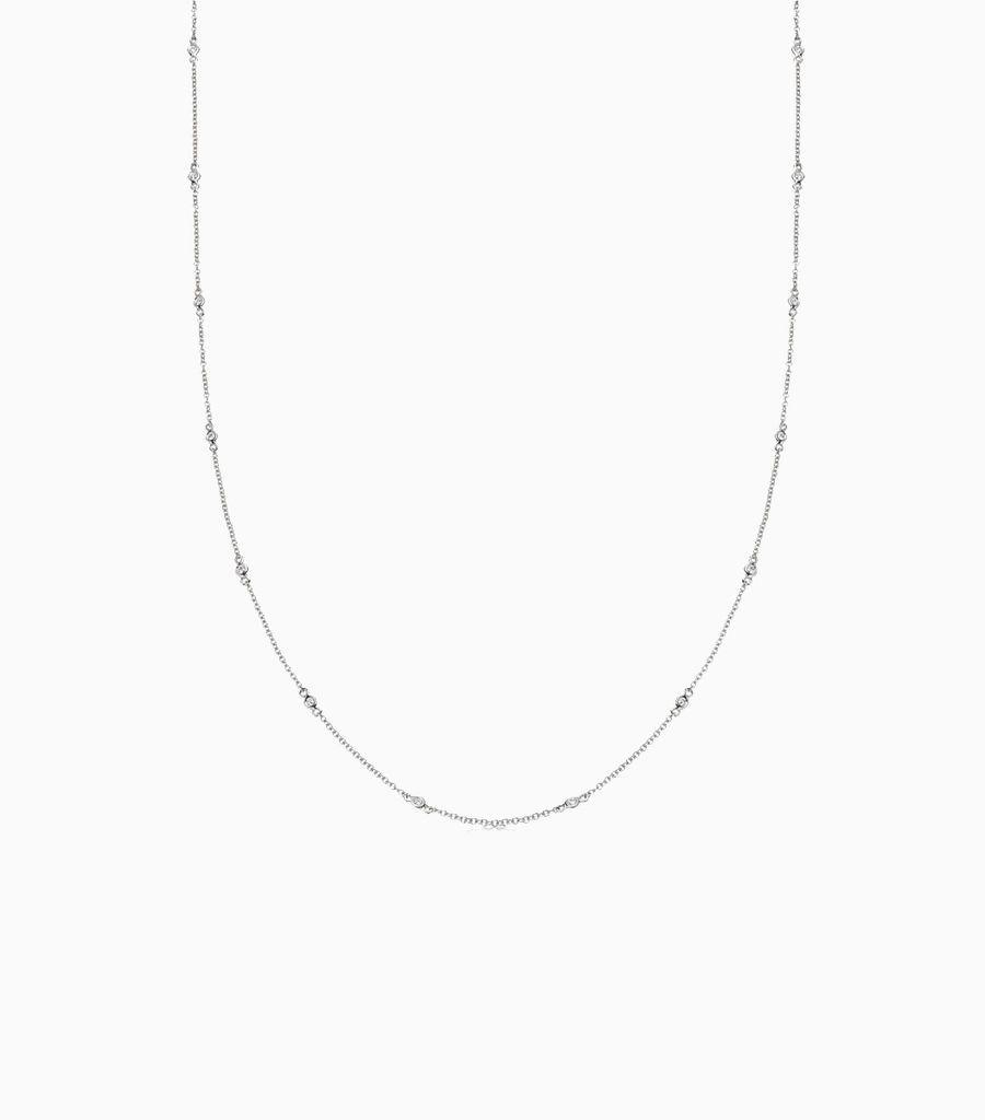 18 inch Fine Diamond Necklace White gold