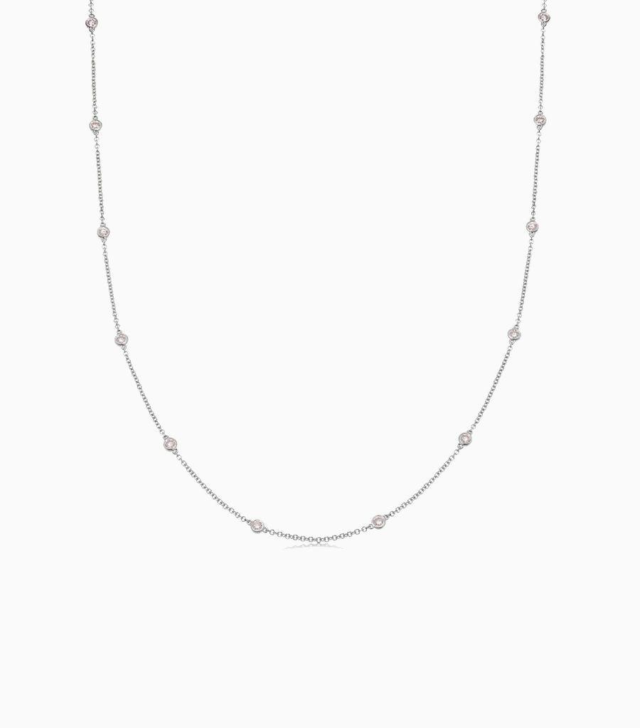 Fancy Pink Diamond Necklace