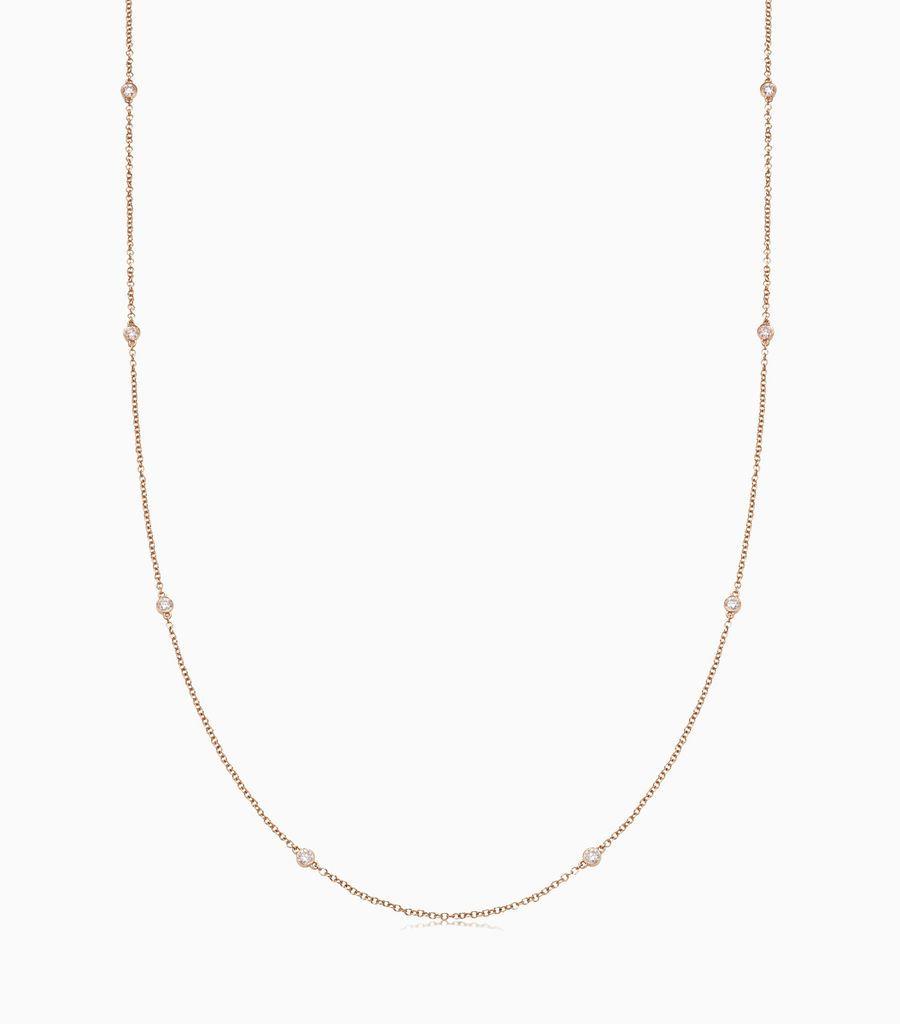 32 inch Palest Pink Diamond Necklace