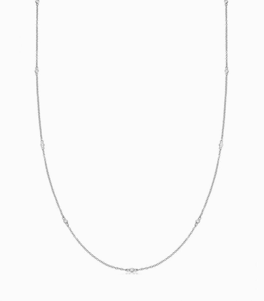 Fine Diamond Chain White