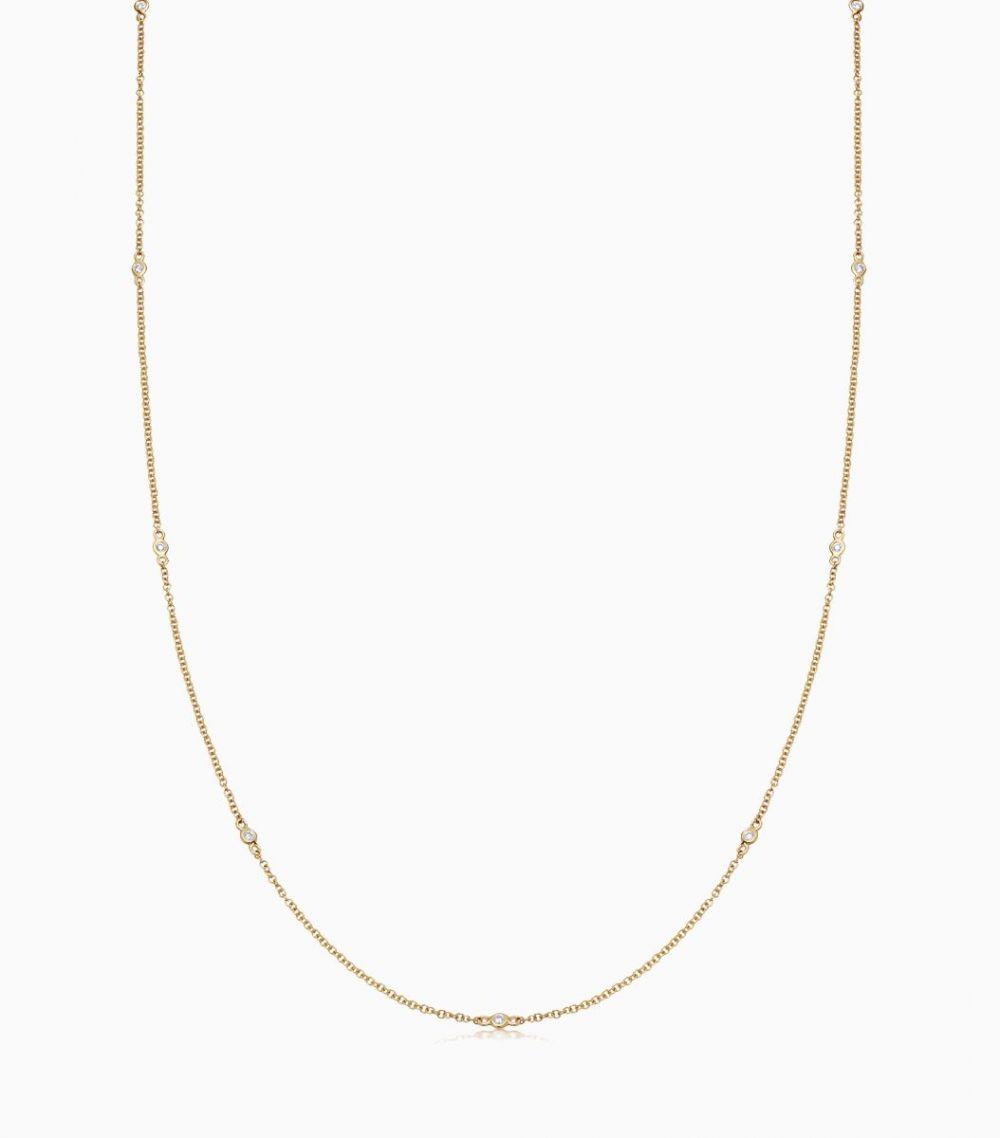 Long Fine Diamond Necklace - all colours