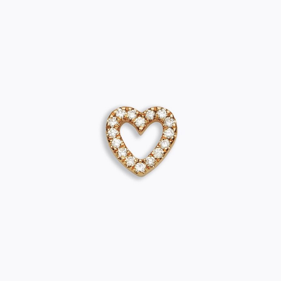 solid gold, rose gold, 18kt, diamond heart