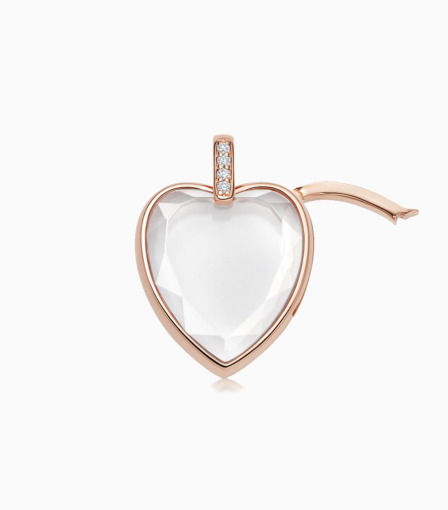 The Amate Heart in Rose Gold