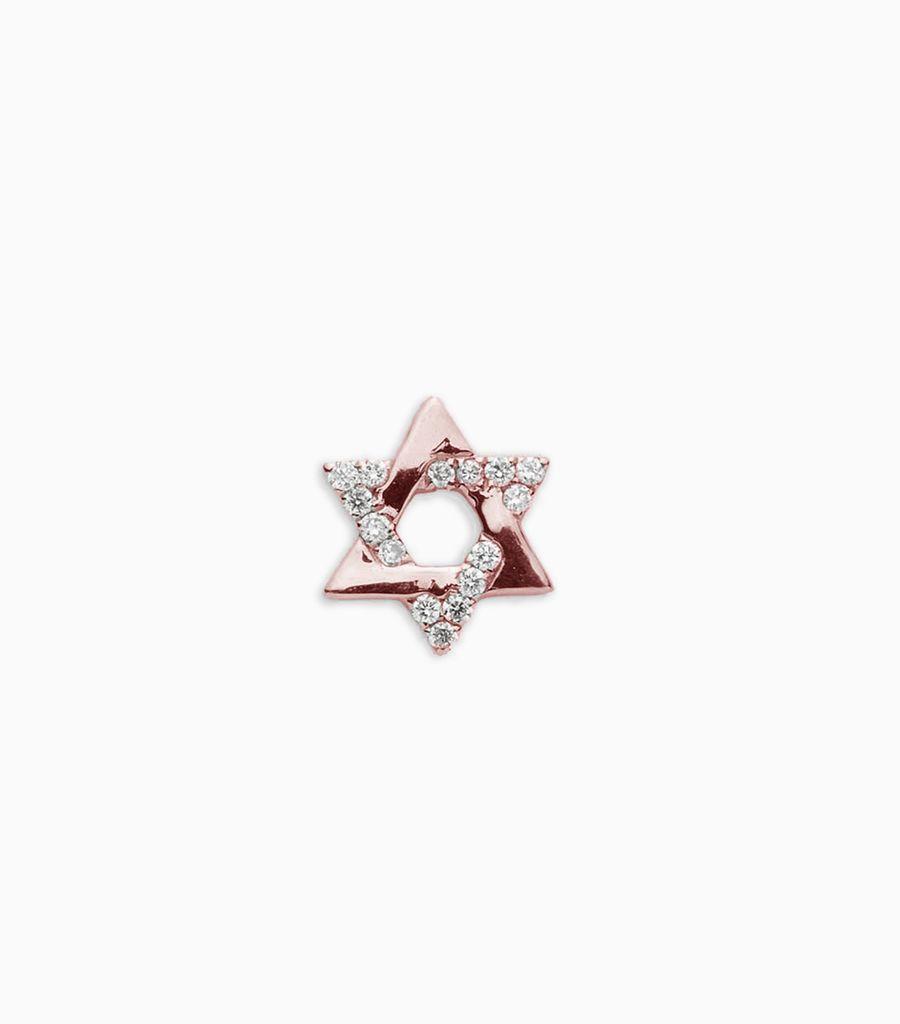 Diamond Star Of David Rose Gold