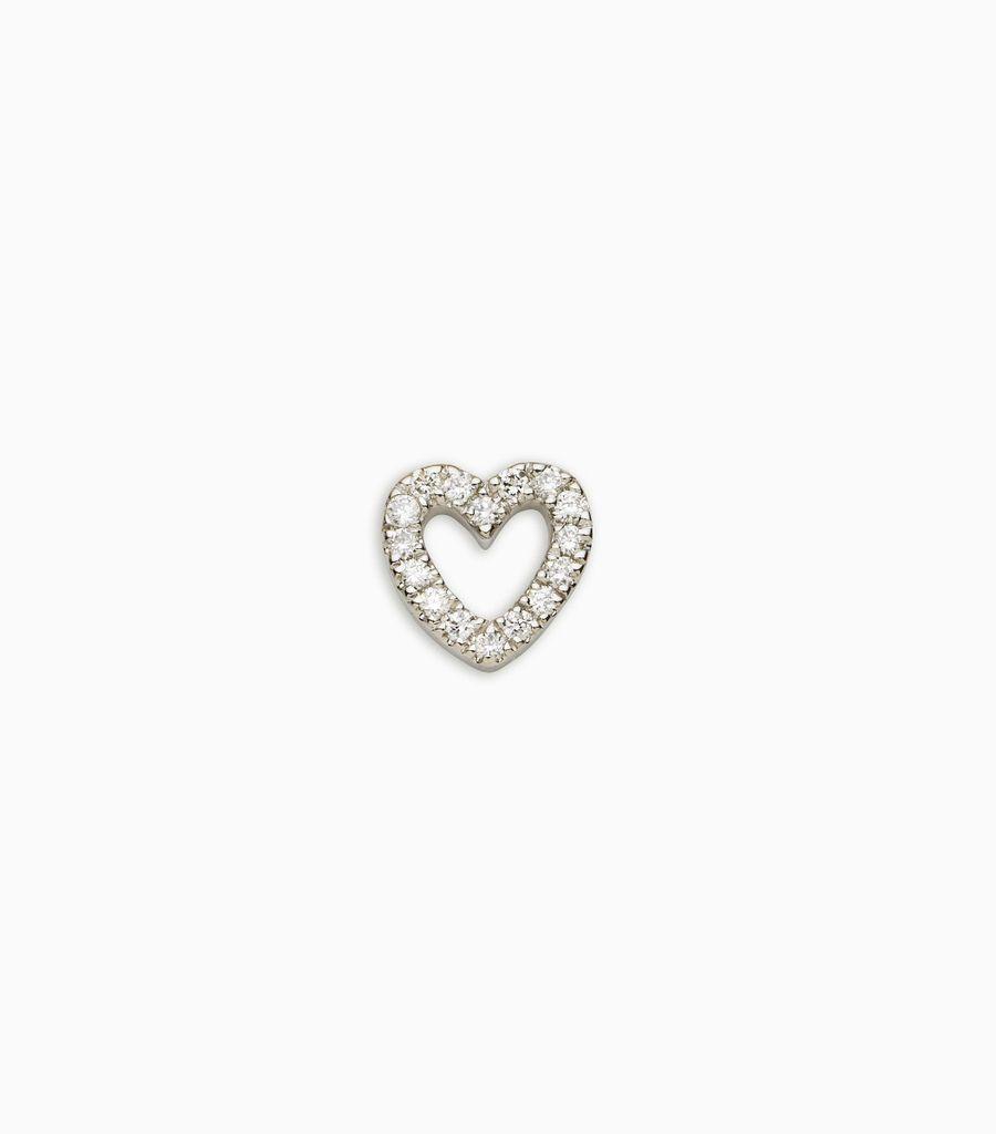 diamond white gold, 18kt, diamond heart
