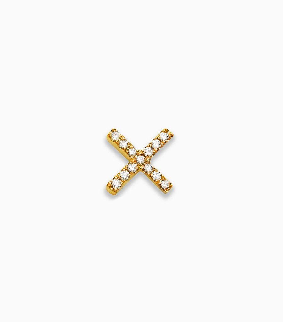 Love/Friendship, diamond, yellow gold 18kt, diamond kiss