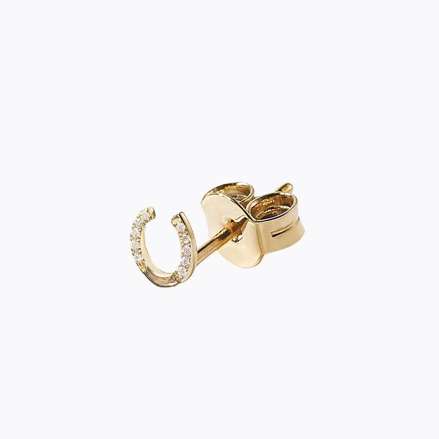 yellow gold, 14k, horseshoe studs
