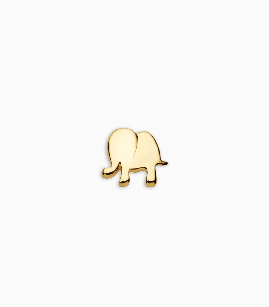 Luck/nature, yellow gold, 18kt, elephant