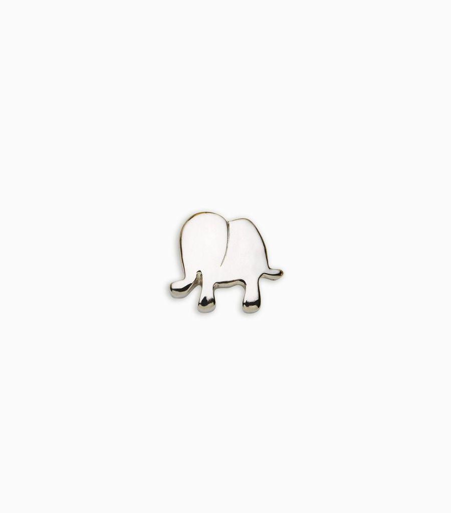white gold, 18kt, elephant