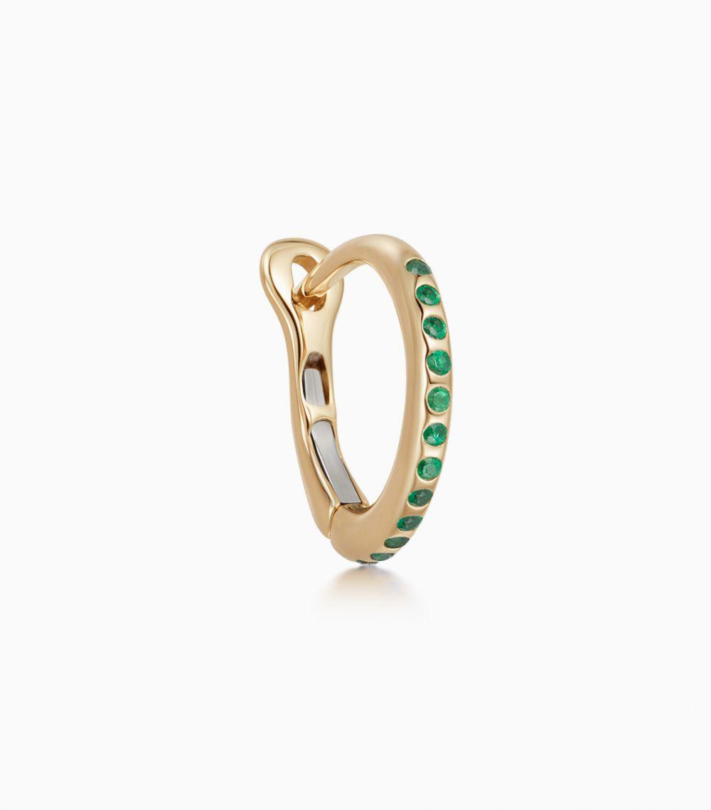 The Emerald Hoop Earring