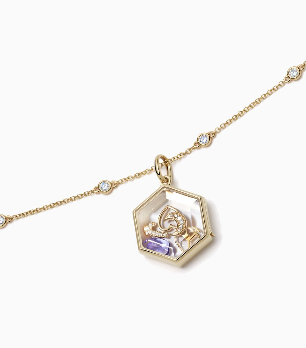 Spherical Diamond necklace