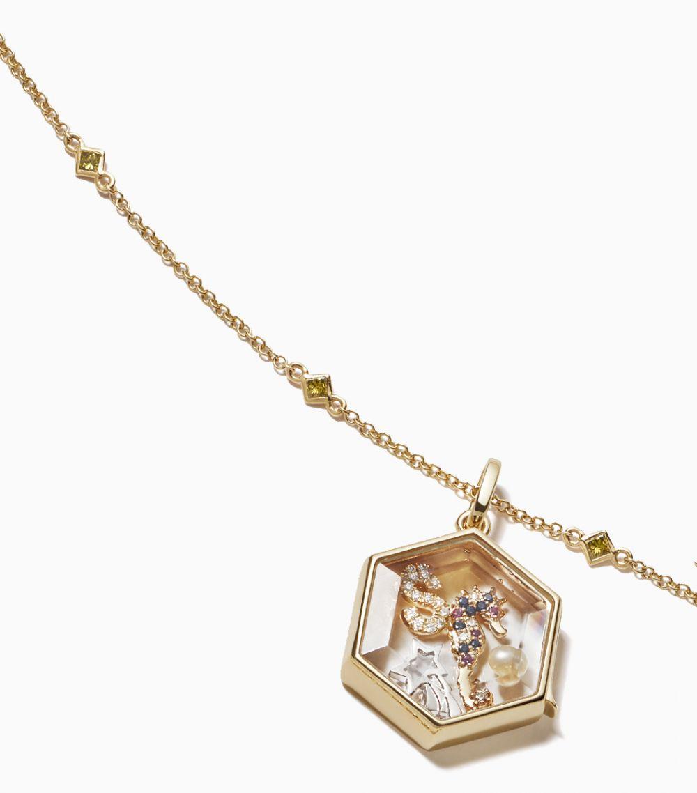 Princess Cut Yellow Diamond Necklace