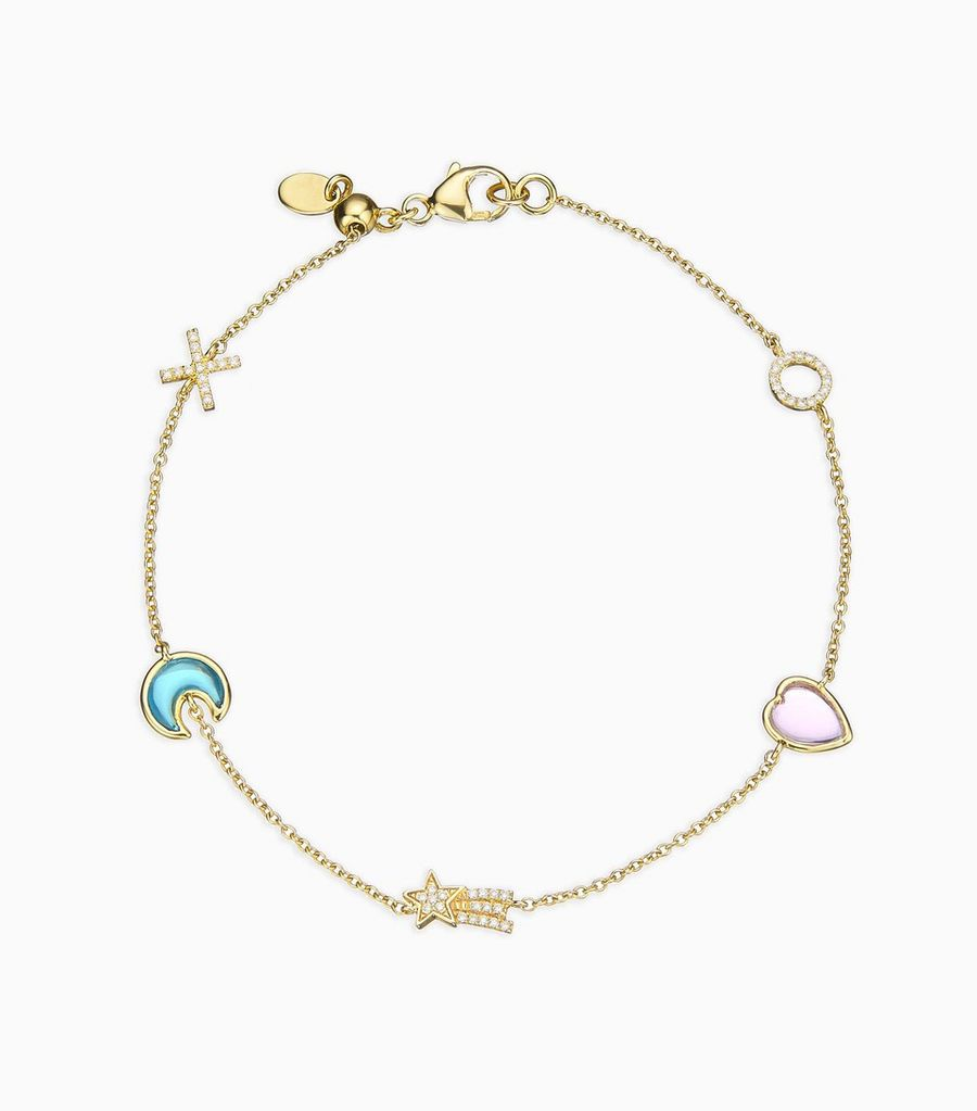 Hope Charm Bracelet, 14k, yellow gold