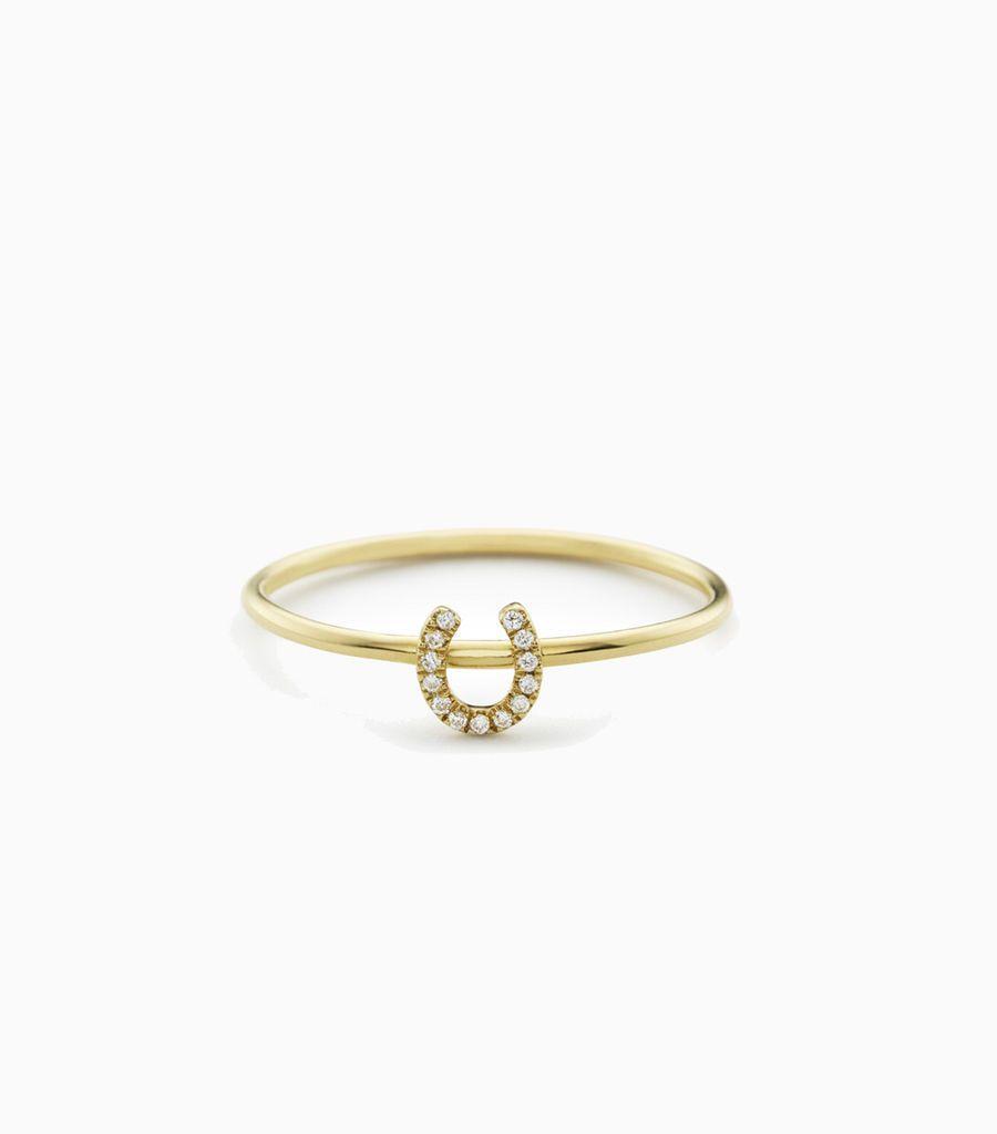 Horseshoe Puzzle Ring Size 54