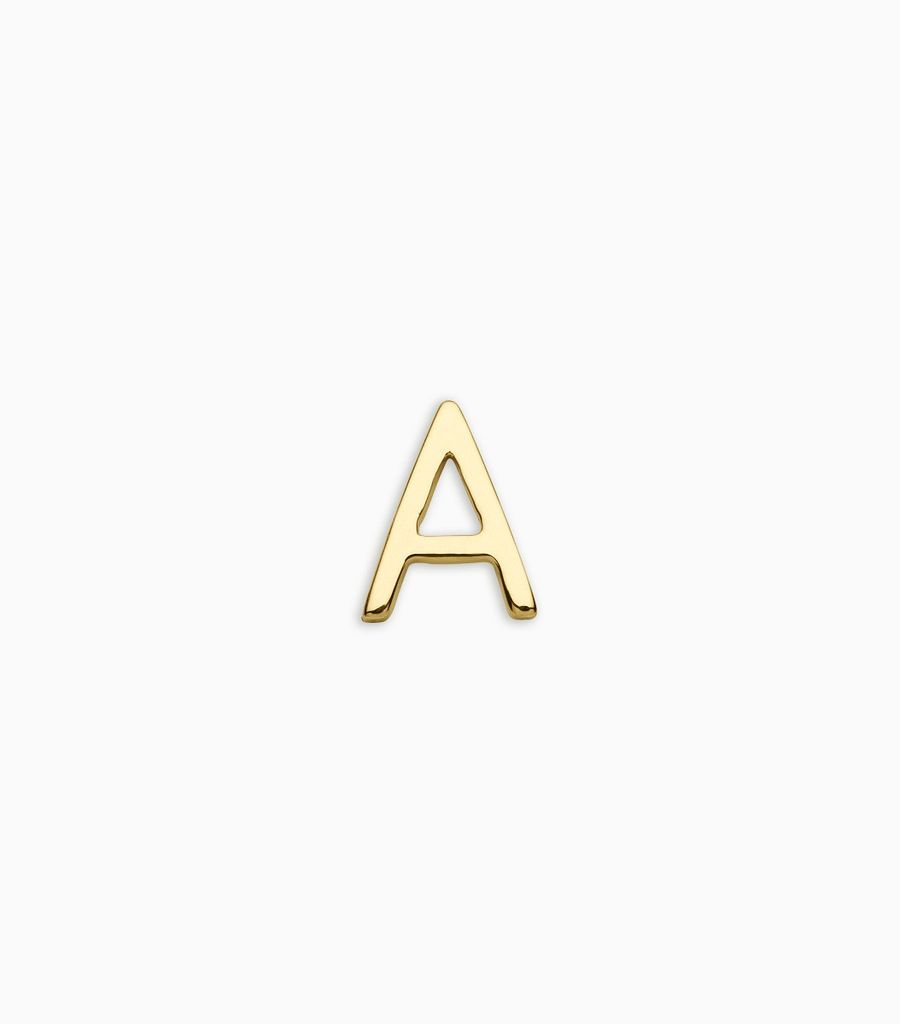 Letters, yellow gold, 18kt, a