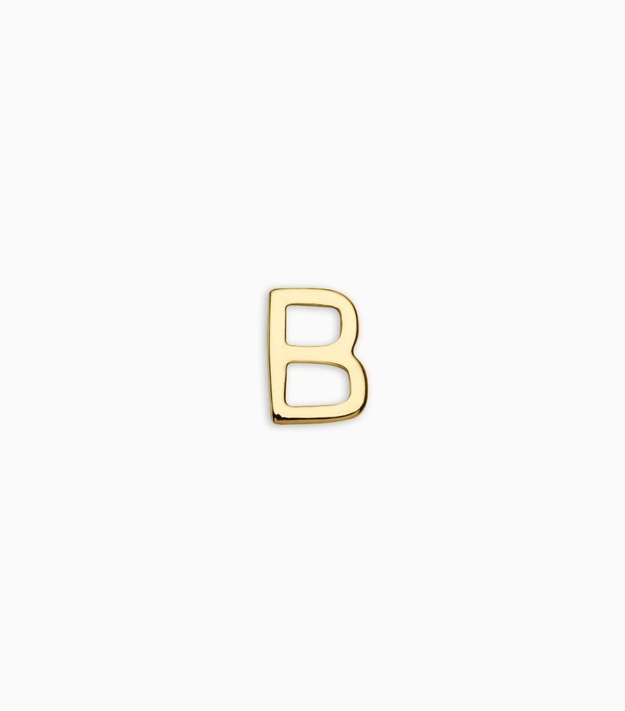 Letters, yellow gold, 18kt, b
