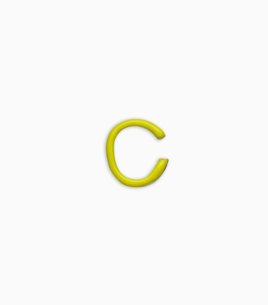 Letters, yellow gold, 18kt, c