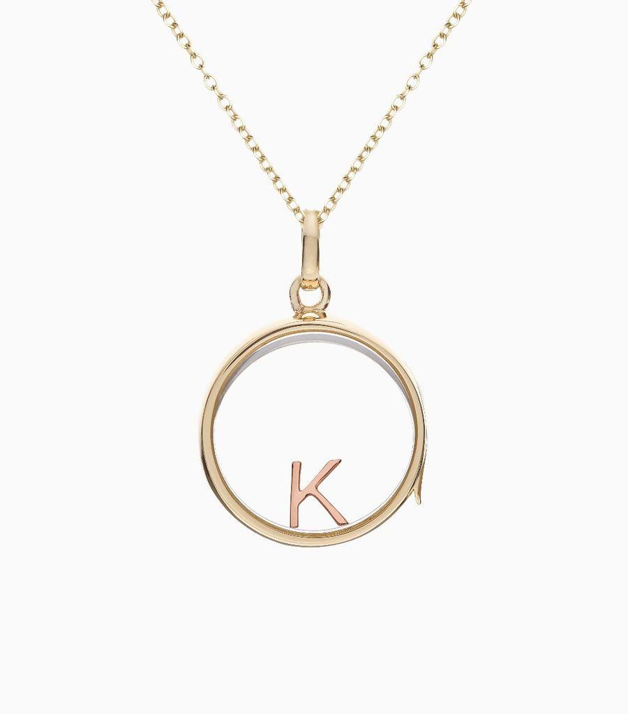 K Rose Gold Letter