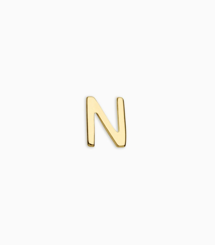 Letters, yellow gold, 18kt, n