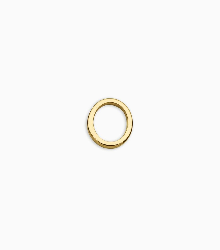 Letters, yellow gold, 18kt, o