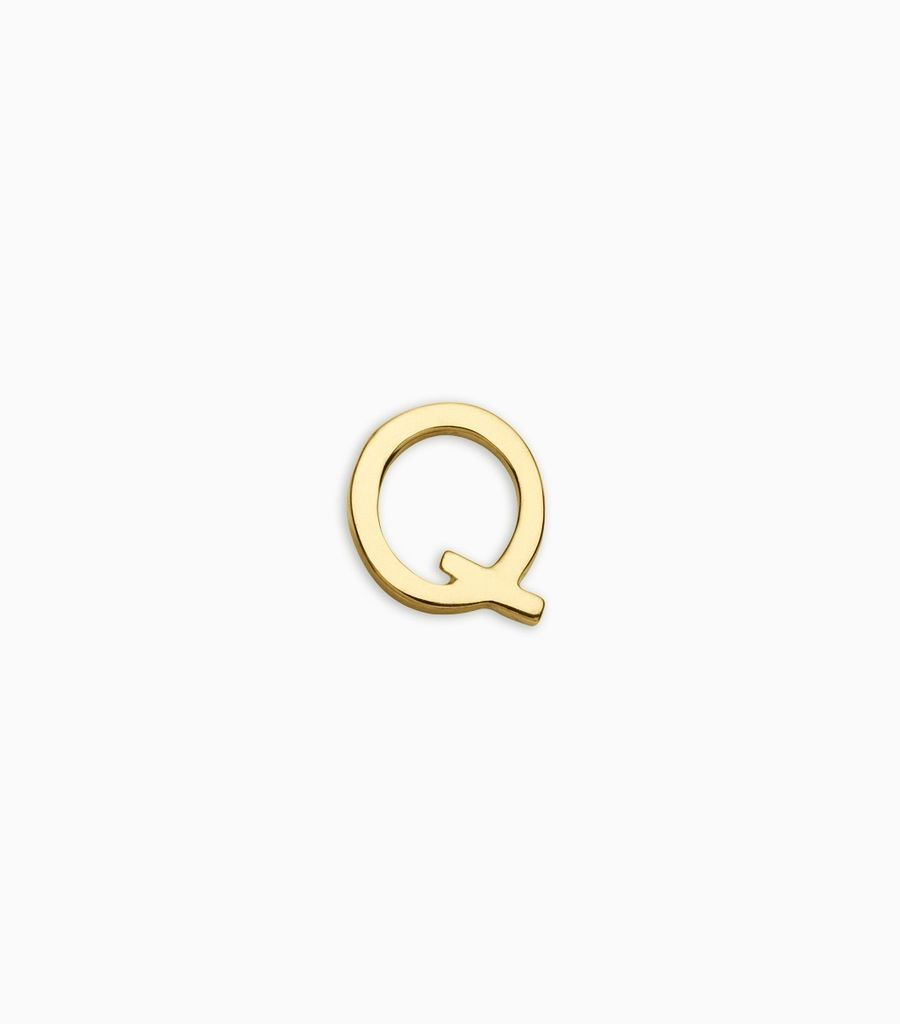 Letters, yellow gold, 18kt, q