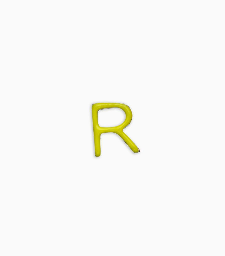 Letters, yellow gold, 18kt, r