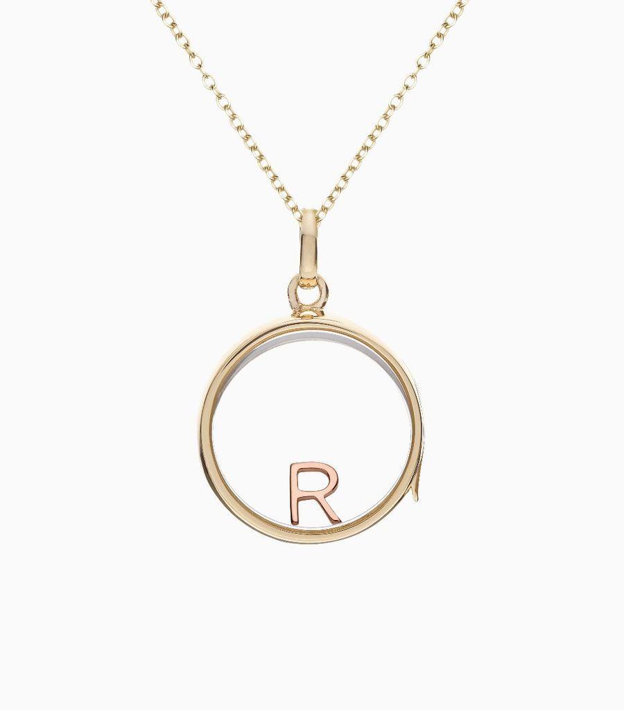 R Rose Gold Letter
