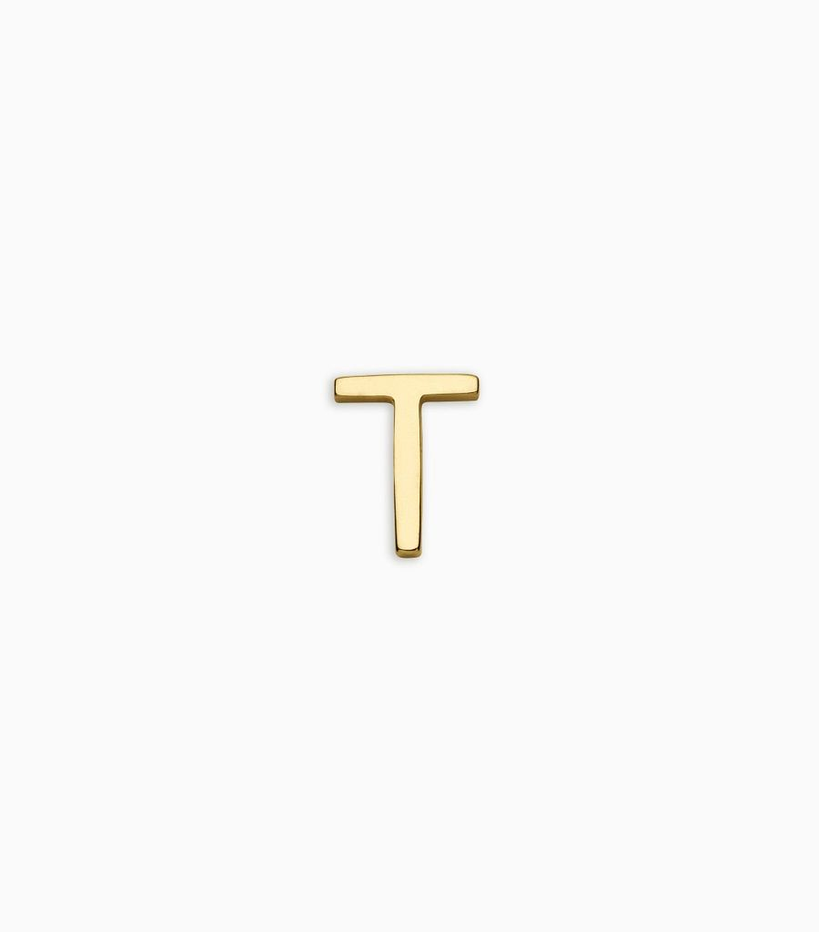 Letters, yellow gold, 18kt, t