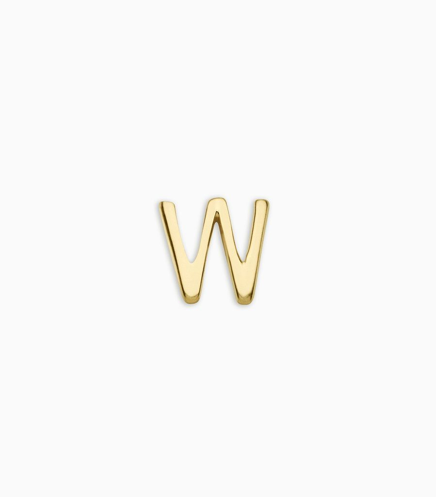 Letters, yellow gold, 18kt, w