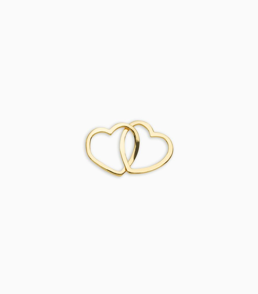 Love/Friendship, yellow gold, 18kt, linked hearts