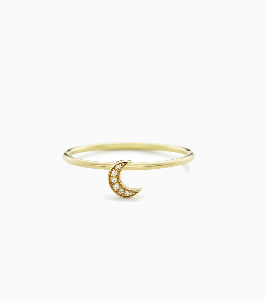 Moon Puzzle Ring Size 52