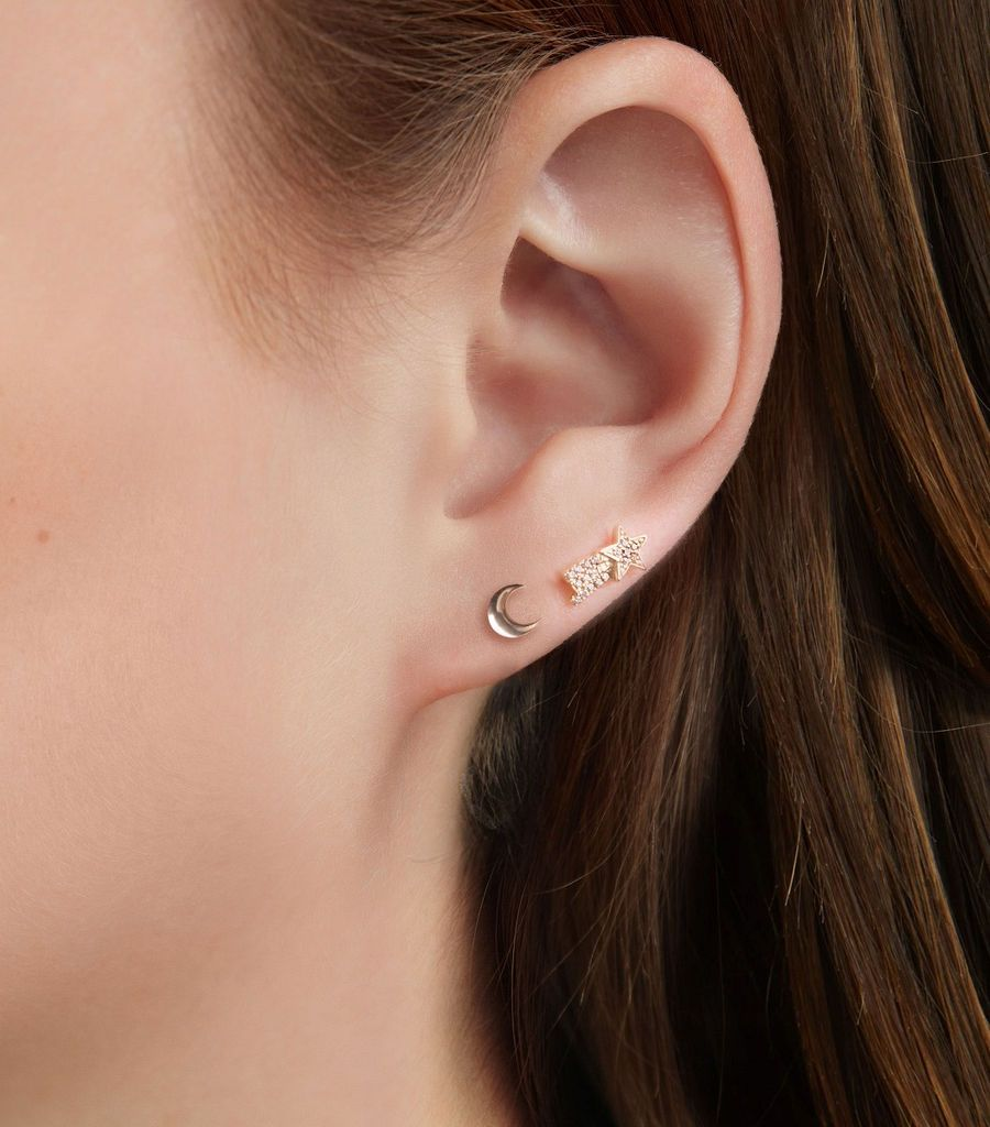 The Moon Stud Earring
