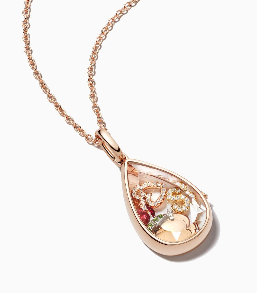The Rose Gold Saffron Locket Pendant