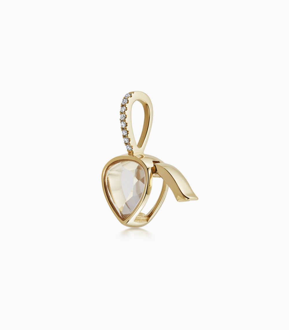 Petite Diamond Pear Locket