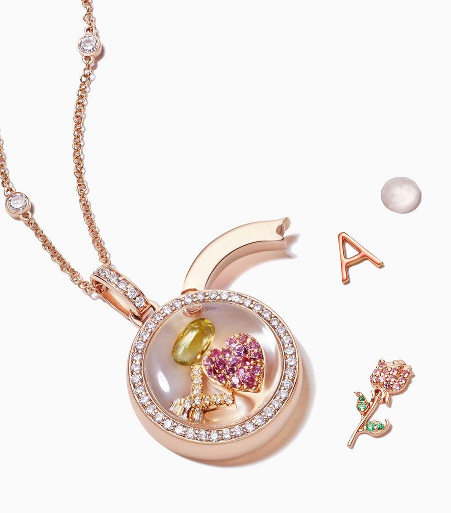 The Diamond Locket Pendant in Rose Gold