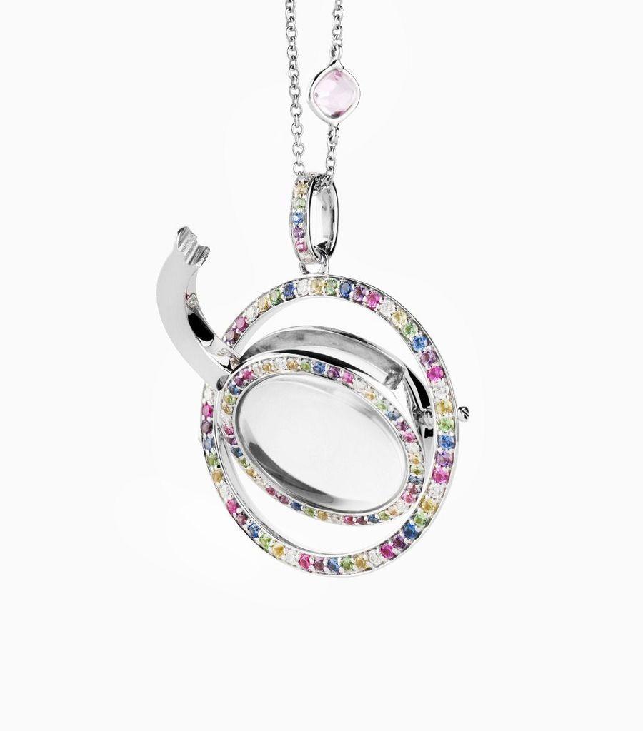 The Diamond and Sapphire Revolving Locket