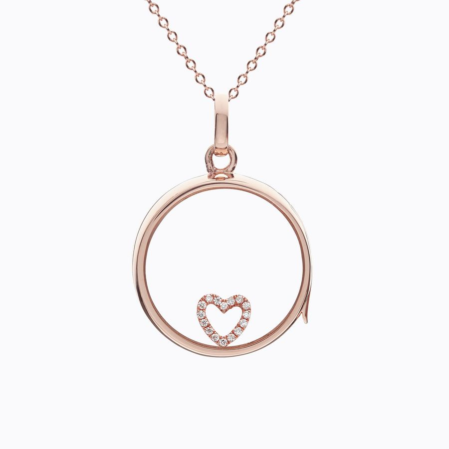 Diamond Heart Rose Gold