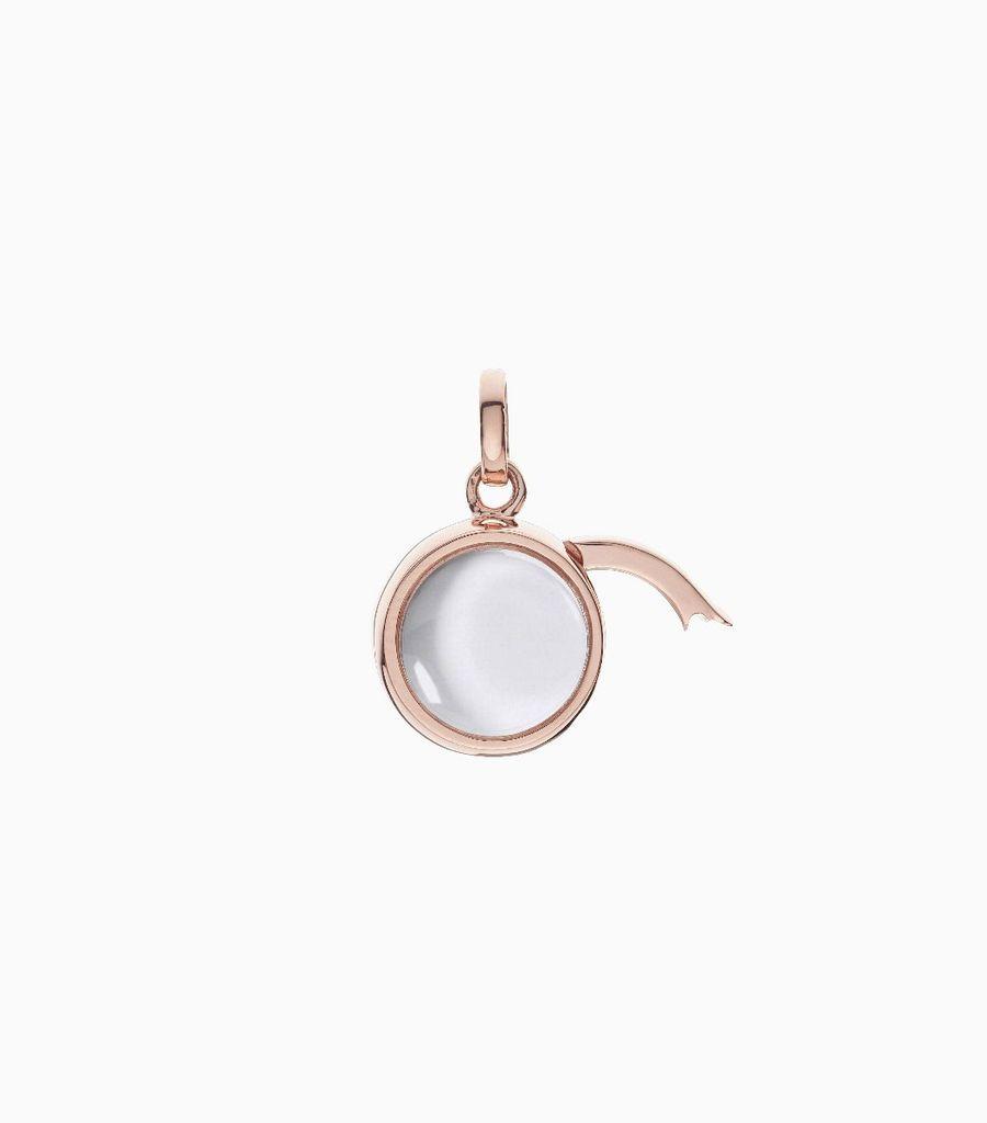 Small Round Locket Pendant Rose Gold