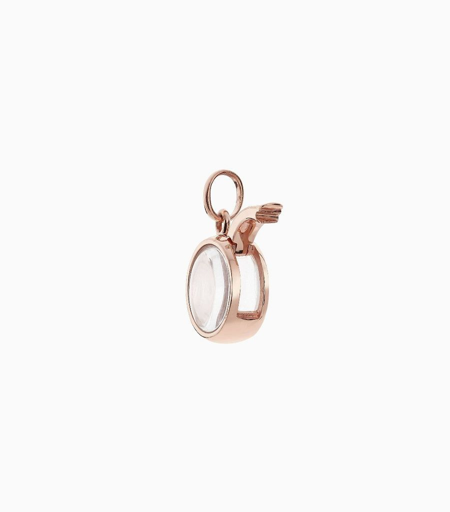 Small Round Locket Pendant Rose Gold