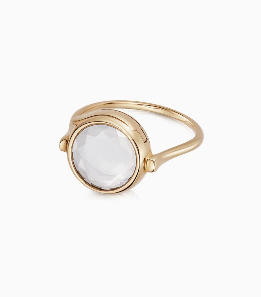 Medium round loquet ring 9k
