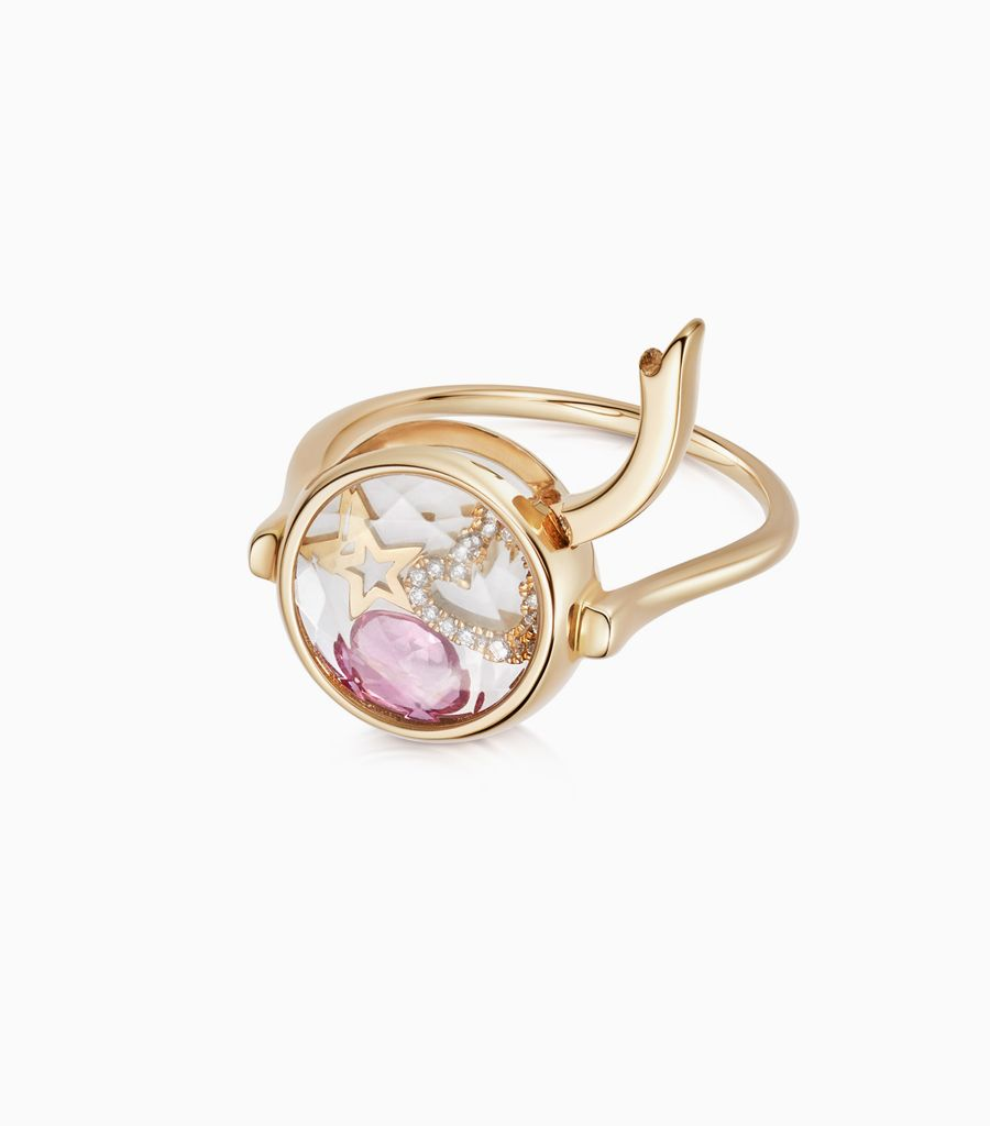 Faceted Round Loquet Ring