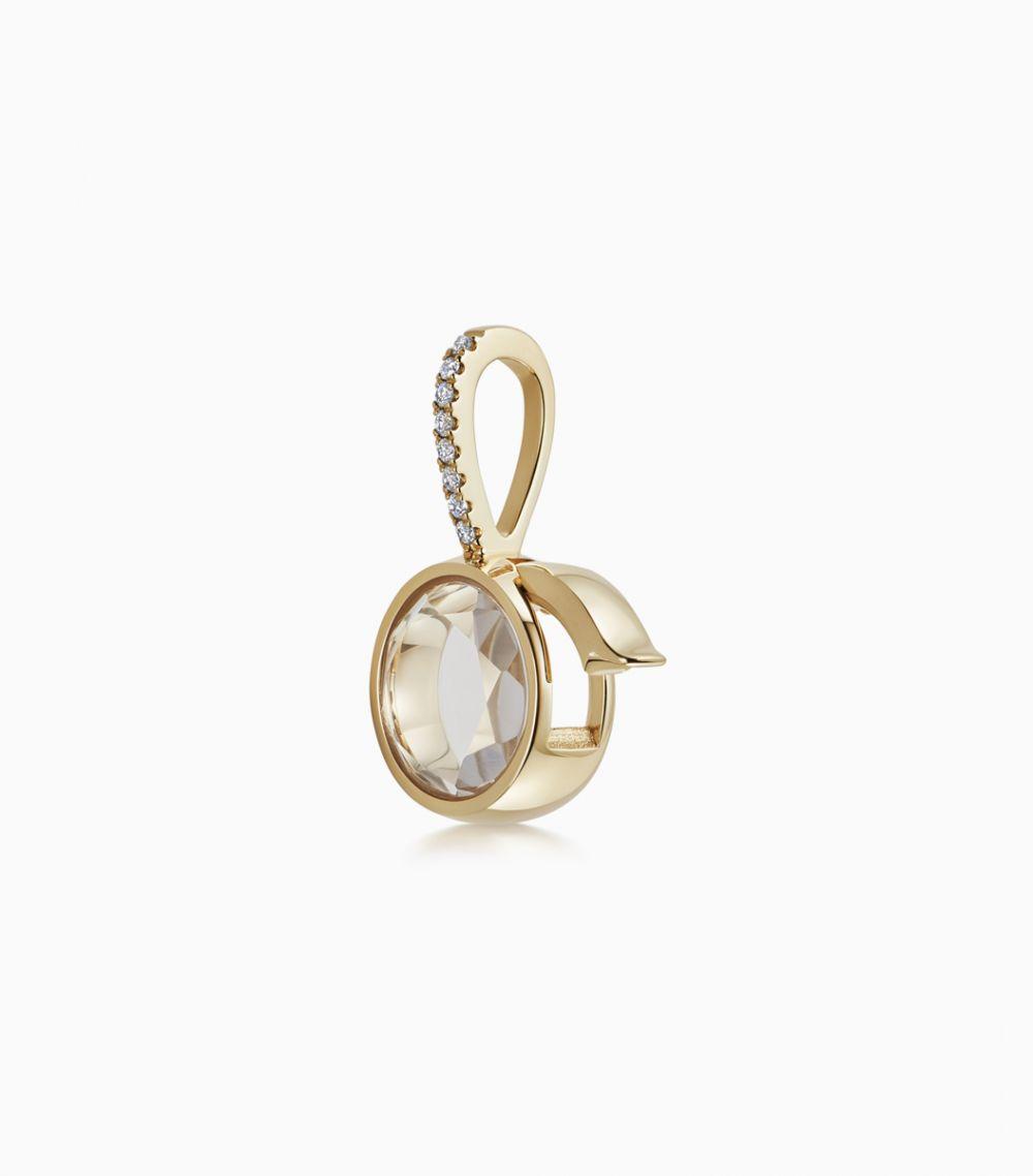 Petite Diamond Round Locket