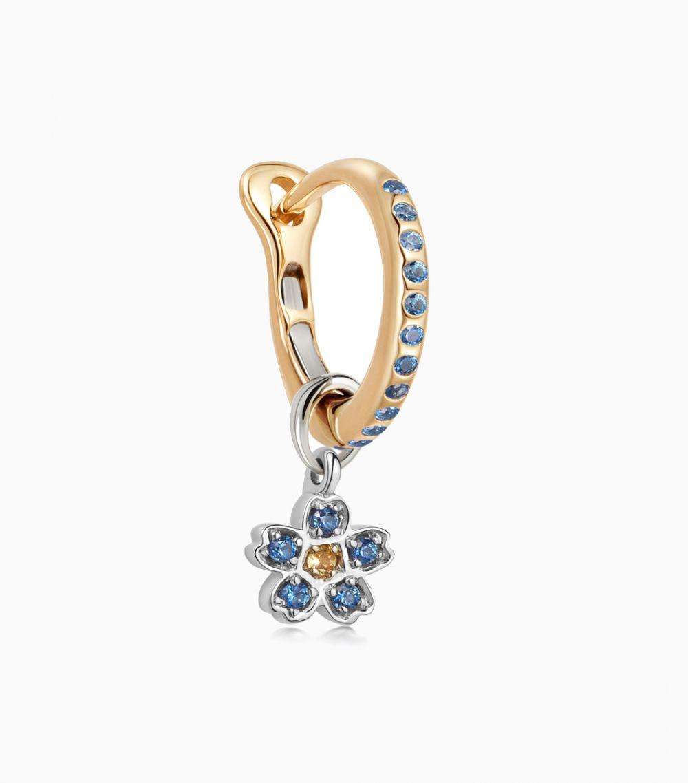 The Sapphire Hoop Earring