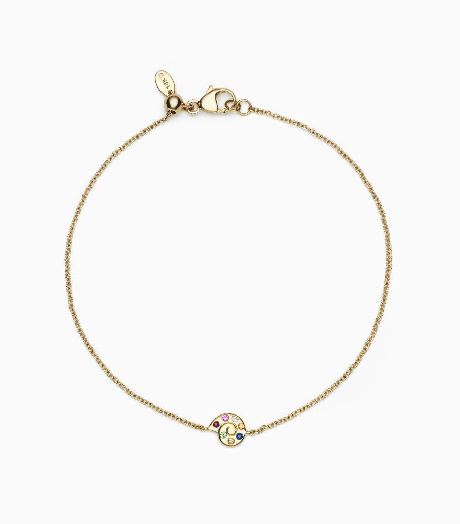 Shell Charm Bracelet, 14k, yellow gold