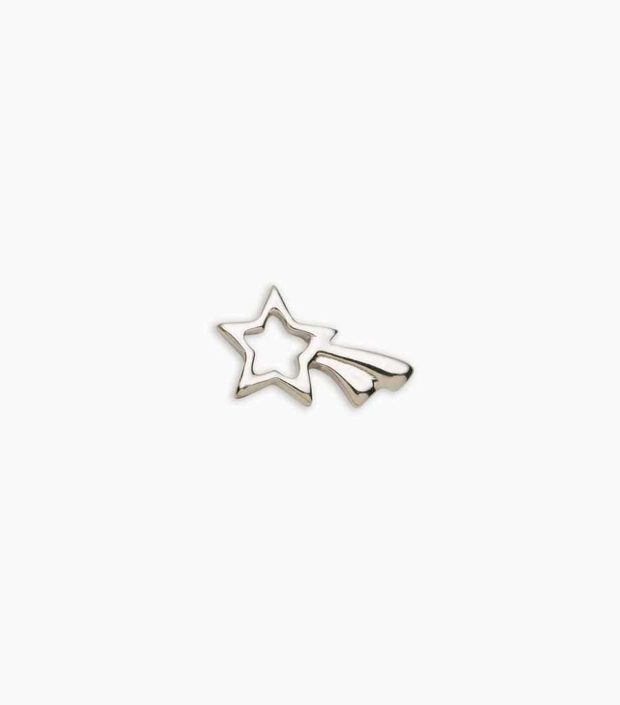 white gold, 18kt, shooting star