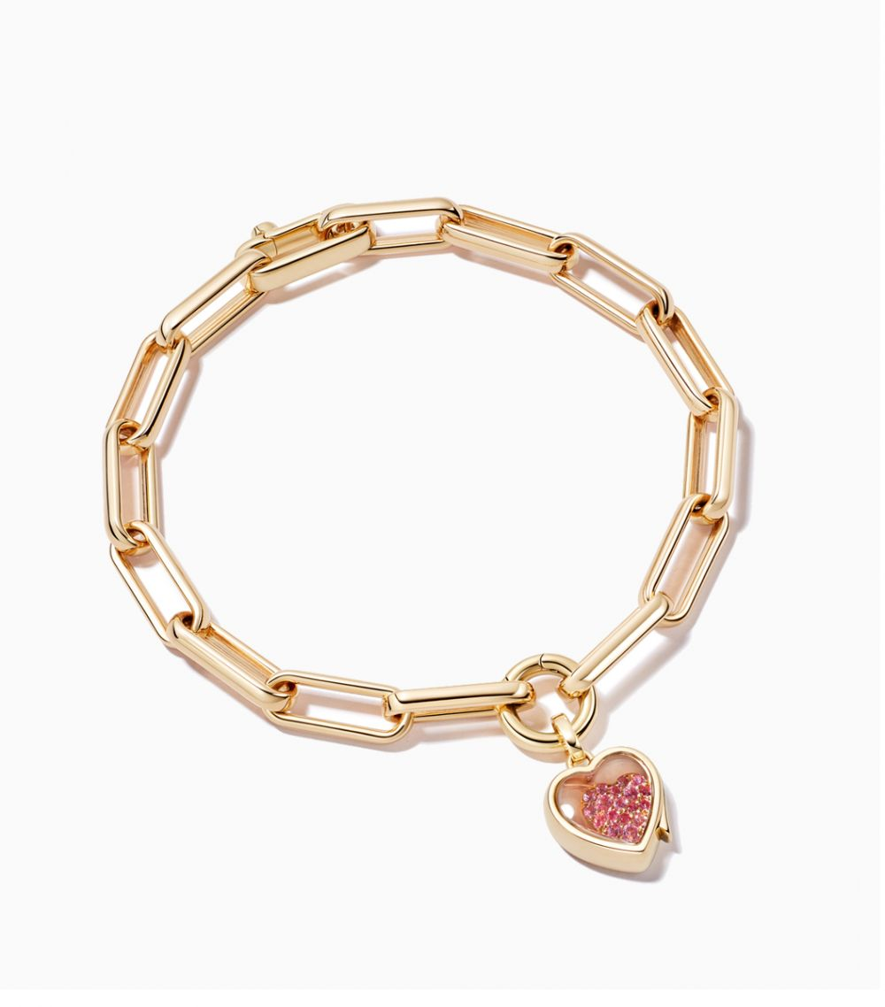 Single Heart Locket Bracelet