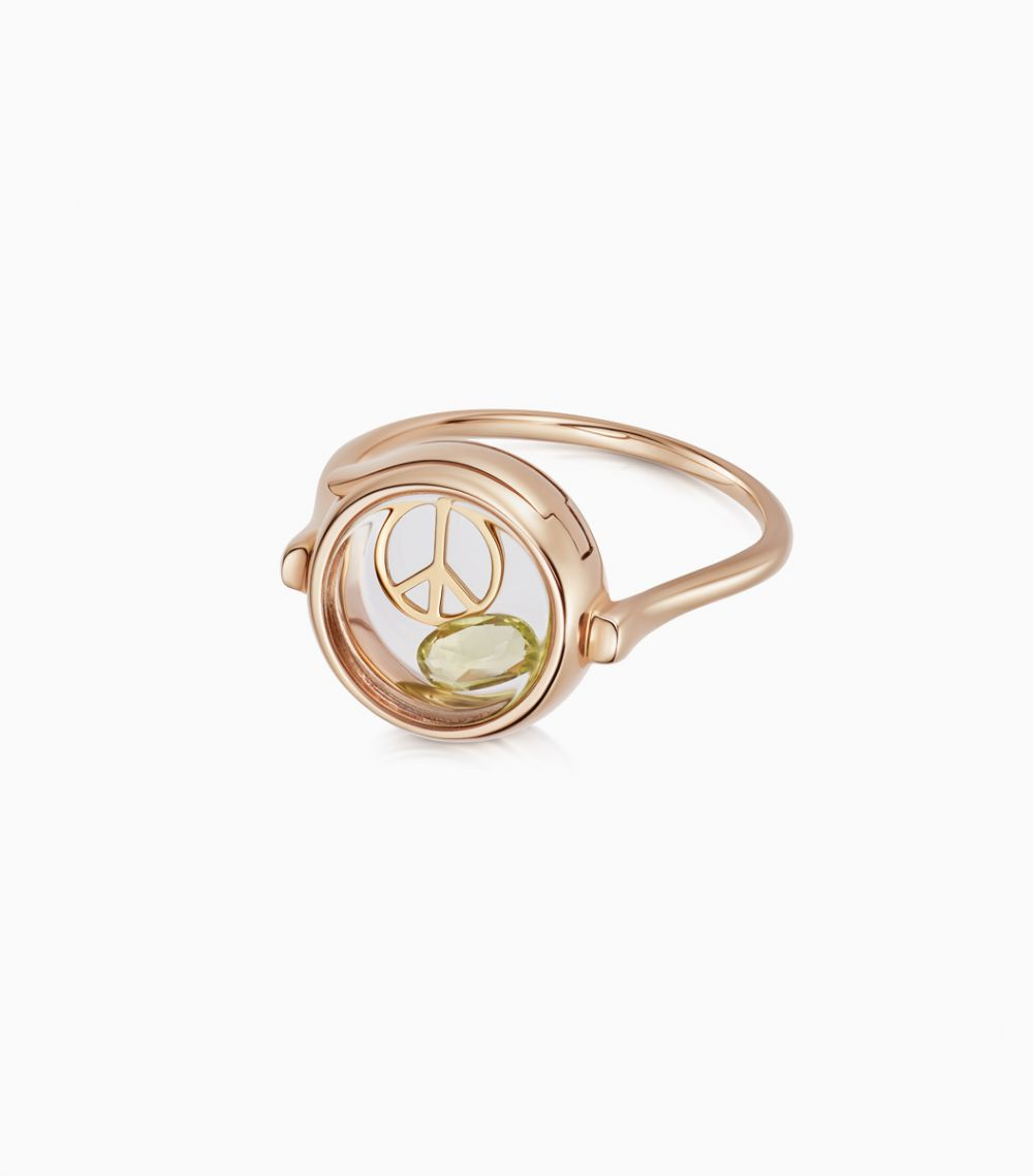 Small round loquet ring 9k