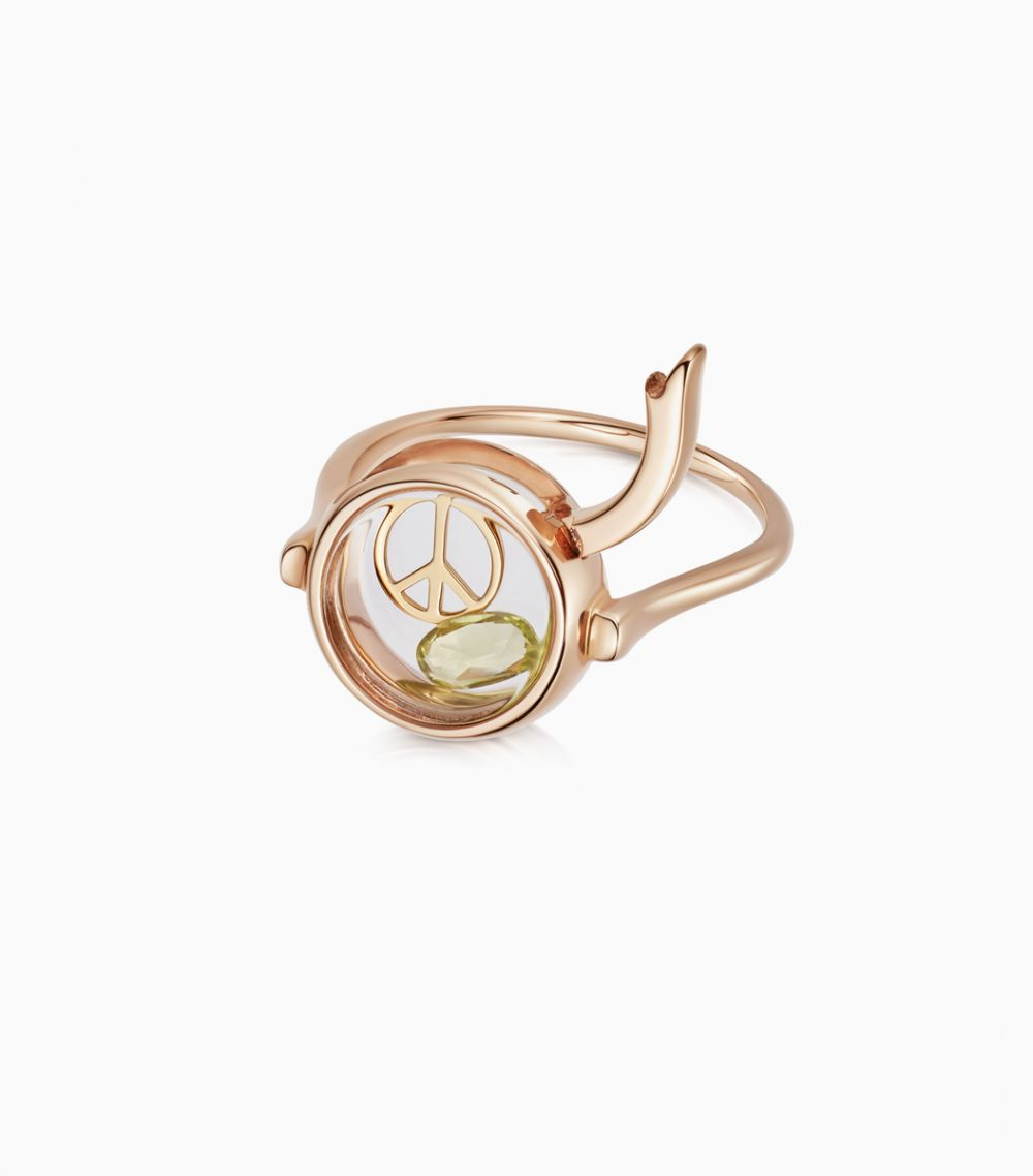 Small Round Rose Gold Loquet Ring 9kt
