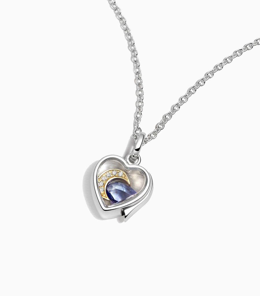 Small heart locket White Gold