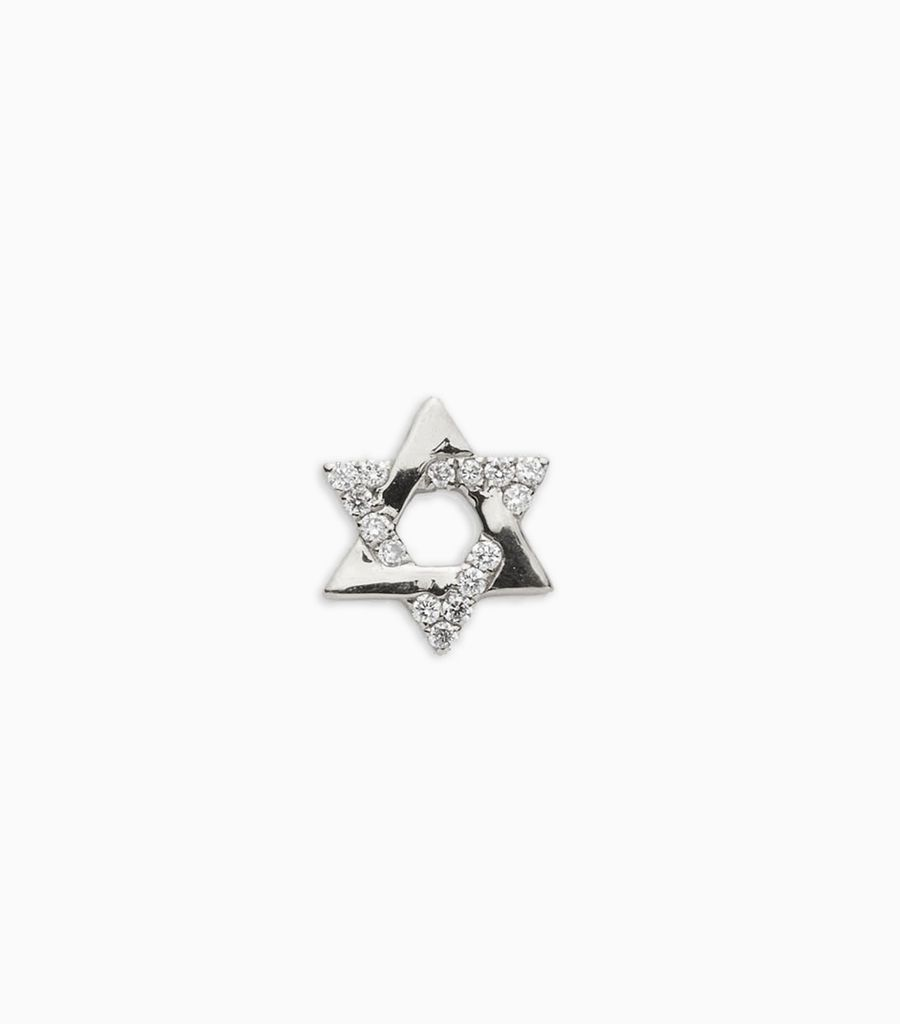Diamond Star of David White Gold - Have Faith